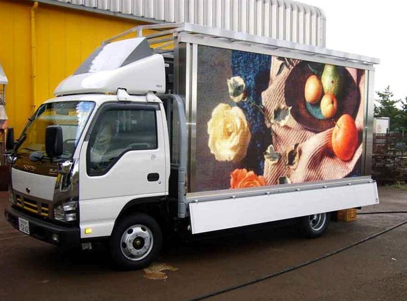 SRY mobile led display mobile truck advertisement led screen top design and best qulity mini foton mobile led trucks