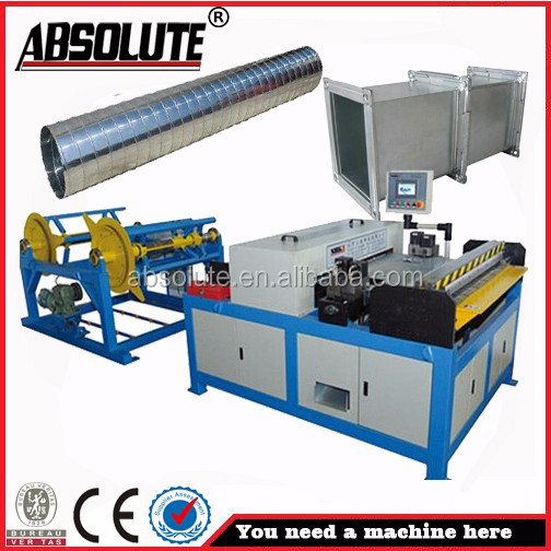 ABSOLUTE brand Square tube forming machine for hvac Pe pipe machine line