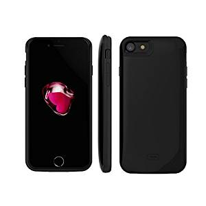 FILIWI Charger Case for iPhone 7-Half pack 2600mah Battery Backup External Cell Phone Battery Case Cover for iPhone7 Battery Case Silicon (Black)