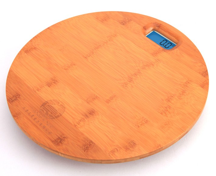 2020 Jinhua Hot Selling 10mm Thickness Digital Bamboo Weighing Bathroom Scale