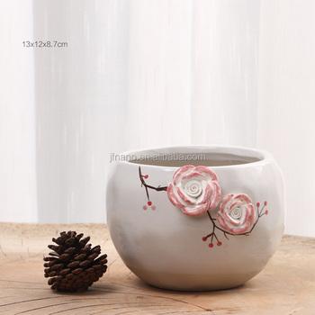 Creative Hand-painted White Ceramic Indoor Planters - Buy Ceramic ...