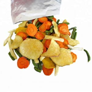 Healthy snacks, crispy dried mixed vegetables, VF chips
