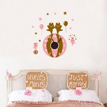 Commercio all'ingrosso Dell'orso Del Fumetto Animale 3D Sticker Orologio <span class=keywords><strong>Da</strong></span> <span class=keywords><strong>Parete</strong></span> Kids Room Decor 3D Wall Clcoks Fantasia Decorativa Wall Sticker Orologio