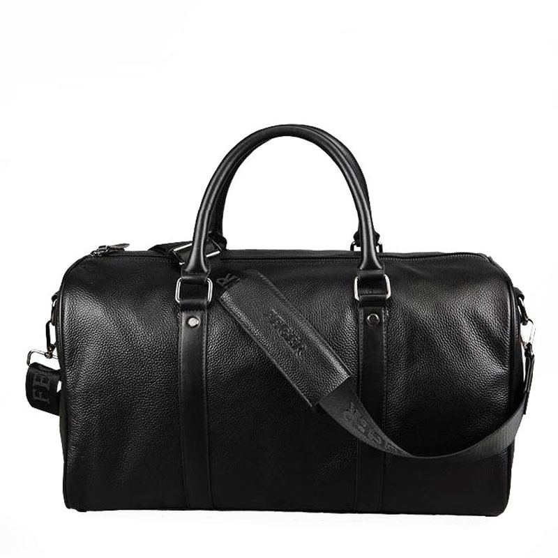 Get Quotations · mens genuine leather traveling bag fashion business 2  colour weekend leather duffle bag with shoulder strap 601251446cfea