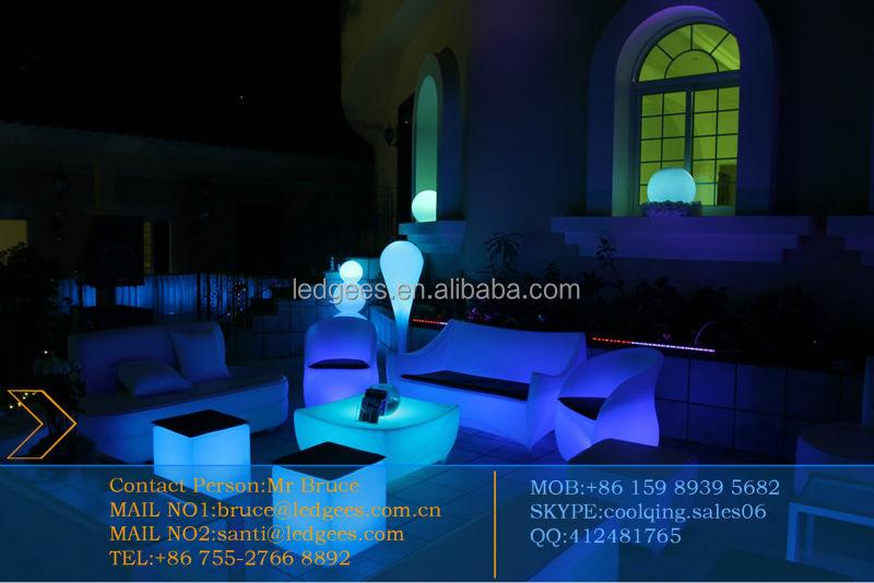 Coolqing 110 V/220 V Rgb Iluminado Plástico Pe Jardín Muebles Led ...