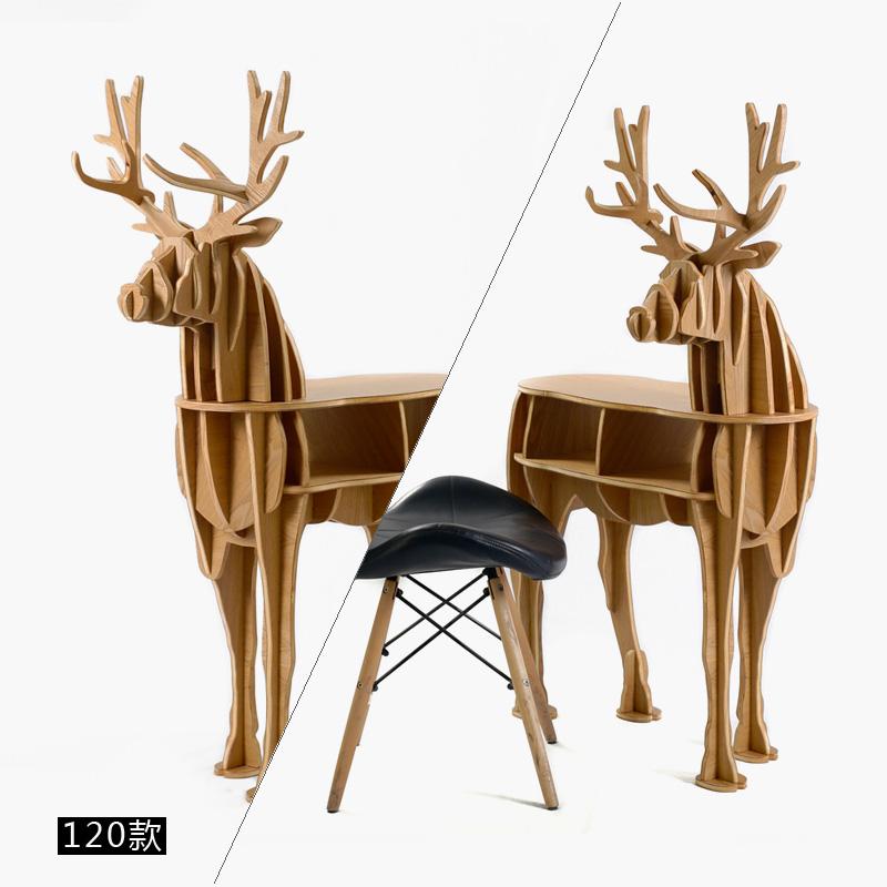 Nórdico creativo muebles animales cabeza móvil ciervos mesa de ...