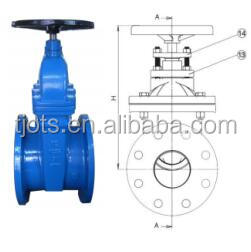 cast iron api ansi 150lb non rising stem gate valve 4 inch double flange connection