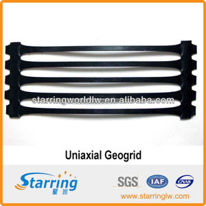 High Tensile Strength PP/HDPE Uniaxial Geogrid