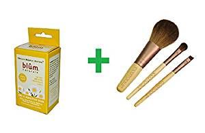 Blum Naturals, Daily Cleansing & Makeup Remover Towelettes, Dry & Sensitive Skin, Chamomile, 10 Towelettes Plus EcoTools, Mini Essential Set, 3 Pieces