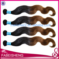 FBS hair arts peruvian ombre color virgin hair body wave two tone color hair