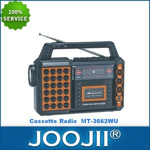 2015 New Portable 9 BAND RADIO CASSETTE RECORDER WITH Flashlight