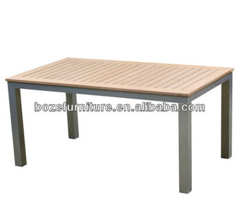 Home Furniture Diy Slate Wood Dining Tablewaterproof Outdoor Table