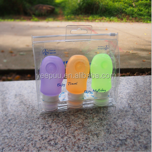 Silicone Travel Bottle Set 3 Leak Proof Design Silicone Travel Bottles