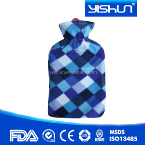 High quality BS Standard Natural Rubber Hot Water Bag /bottle with cover