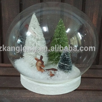 led lighted clear christmas glass ball with trees deer inside for christmas ornaments