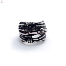 stainless steel polished ring,skull bow ring,hinge snap ring stainless steel