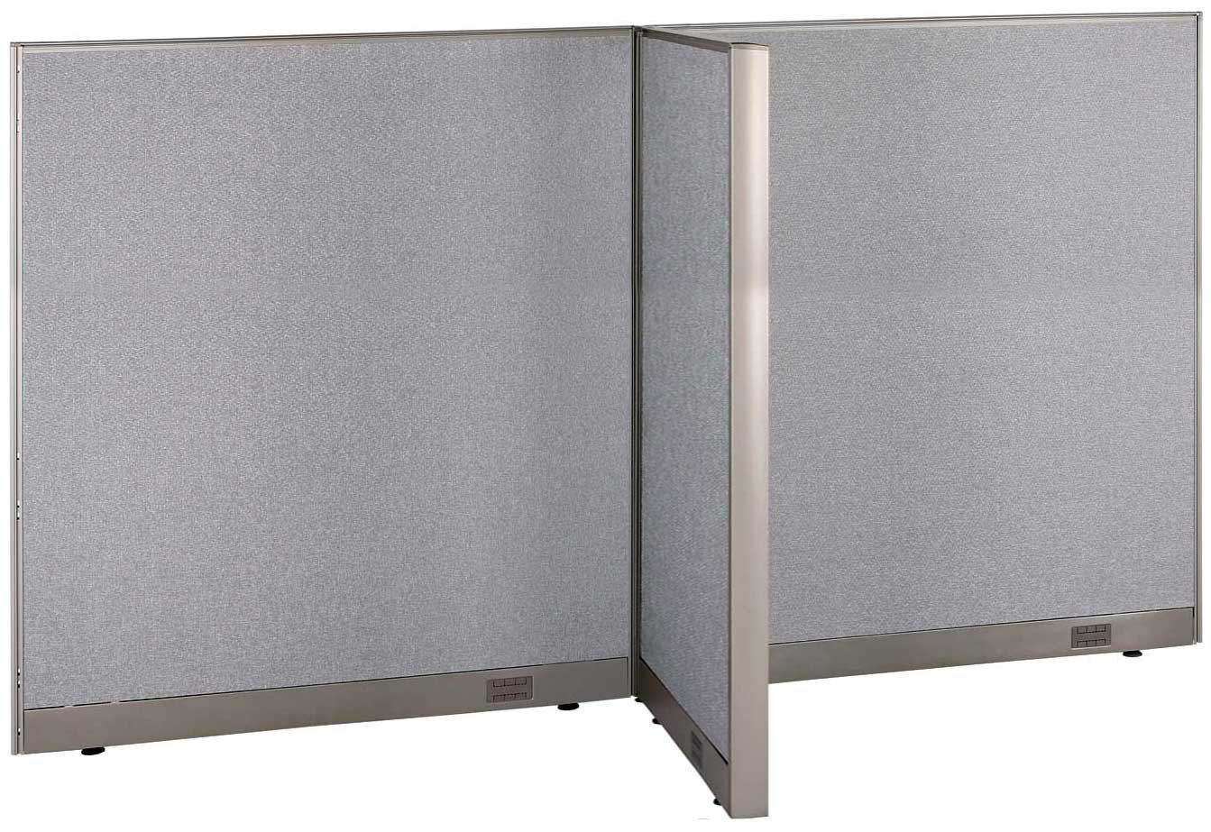 "GOF T-Shaped Freestanding Partition 30""D x 96""W x 60""H / Office, Room Divider (30D x 96W x 60H)"