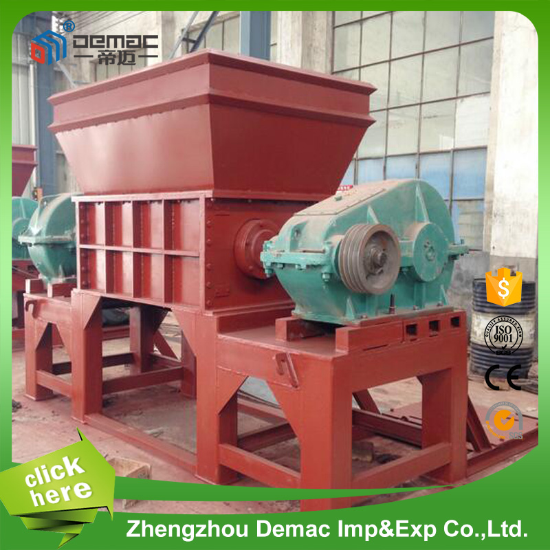 Widely use rubber tire plastic bag recycling shredder machine