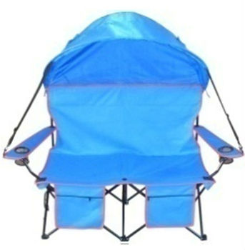 Double Folding Beach Chair Camping With Canopy