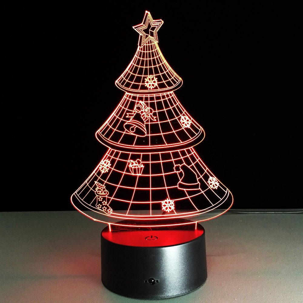 Buy Optical Illusion 3D Lamp 7 Colour Changing Christmas ...
