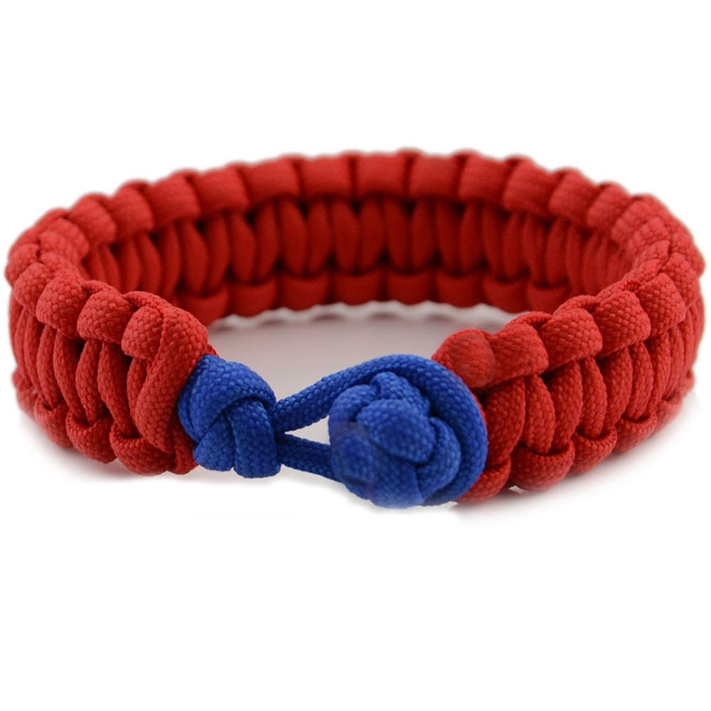 China Wholesale Manufacture high quality 550 Paracord Survival Bracelet with diamond knot for camping
