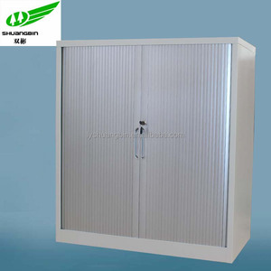 2 roller shutter door office filing cabinet /gray tambour door office filing cabinet / full high office filing cabinet