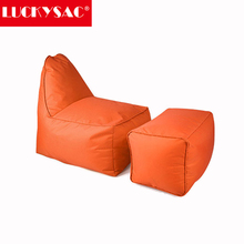 LUCKYSAC Supply OEM or ODM Modern Orange L-shape Bean Bag Recliner Home Furniture