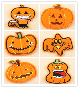 new Design iron on/sew on /stick on christmas Halloween pumpkin lamp Embroidery Patch