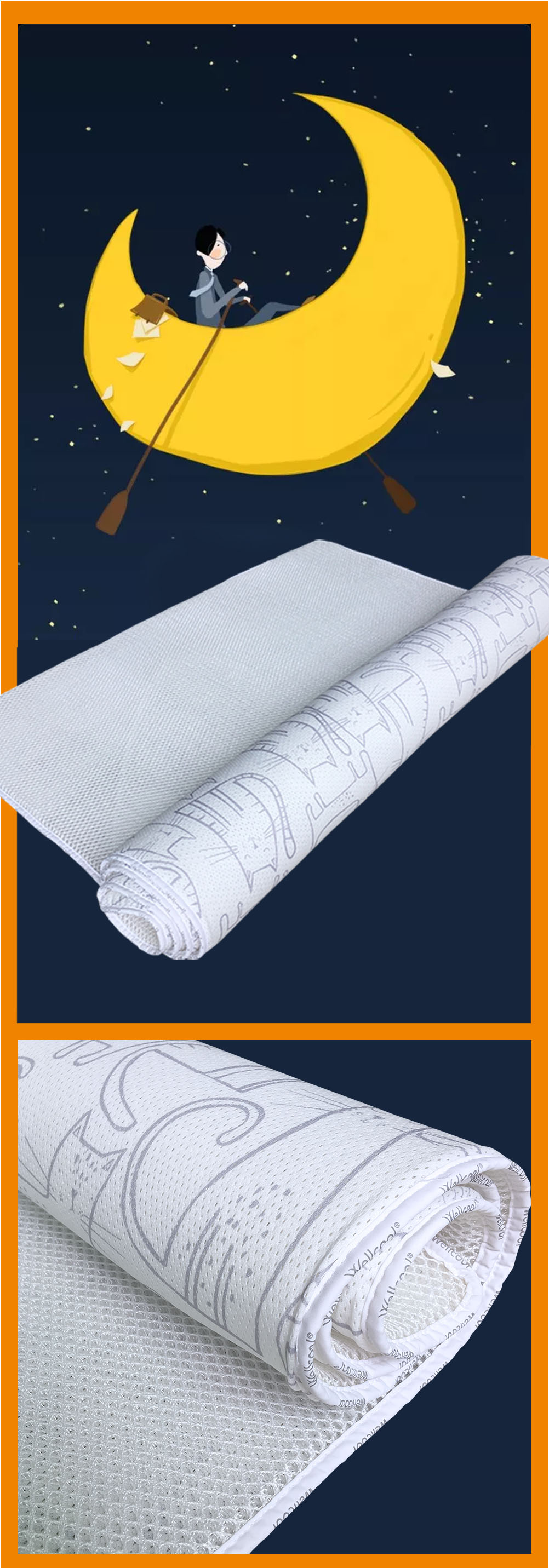 Thin breathable 3d spacer fabric polyester mesh 20 mm mattress pad for manufacturer