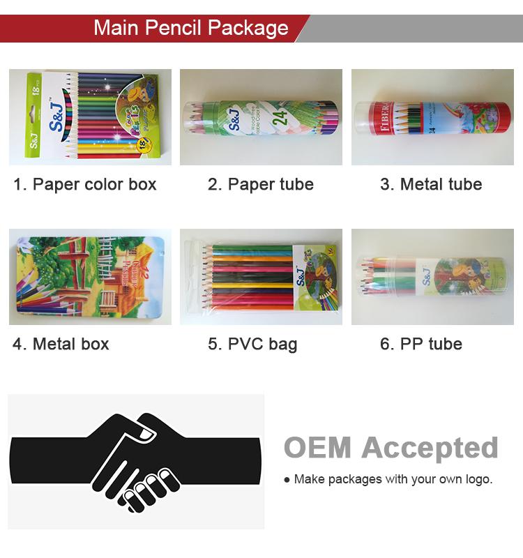 Pabrik 18 Tahun Sampel Gratis Kayu Warna Pelangi Pensil Set 12