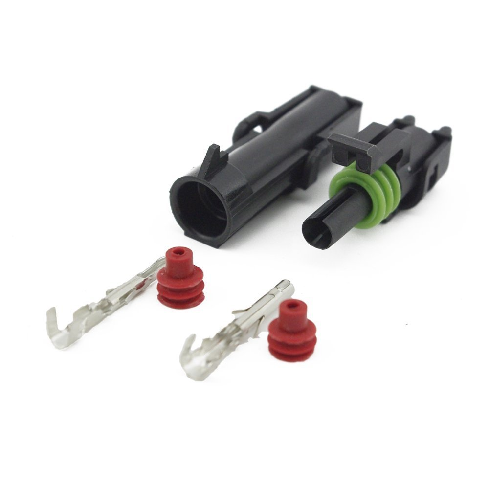 Cheap Chip And Pin Terminals Find Deals On Wire Harness Tool Get Quotations Surbluexx 10 Kit 1 Way Waterproof Electrical Connector 15mm Series Heat Shrink Quick