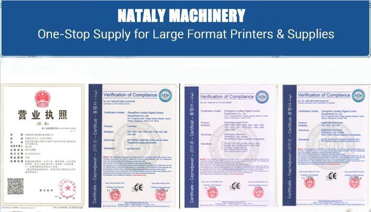 Большой формат 1 8 м 4 цвета баннер автомобиля стикер эко растворитель принтер our certificate