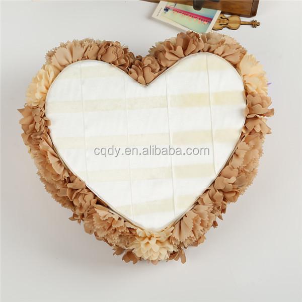 2015 Herzform Hochzeit Ring Kissen Mit Ring Box Handgefertigt Seidenblume Braut Kissen Ringe Grosshandel Buy Product On Alibaba Com
