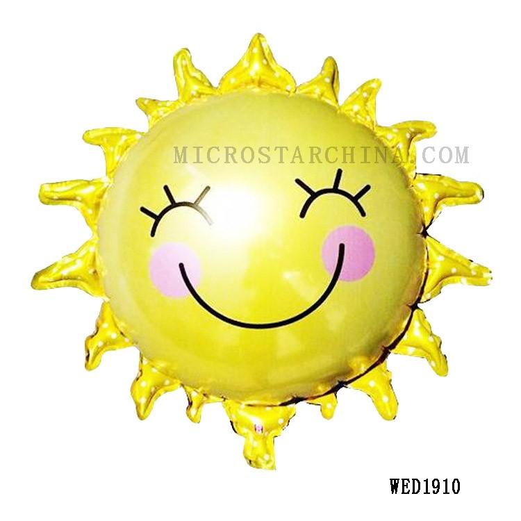 a1489135961d Улыбка солнце шарики, День подарков будущей матери гелиевые фольги  воздушные шары с днем рождения украшения