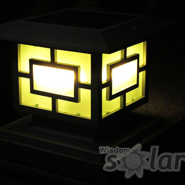 Garden Security Lighs Solar Pillar Lantern Light Main Gate ...