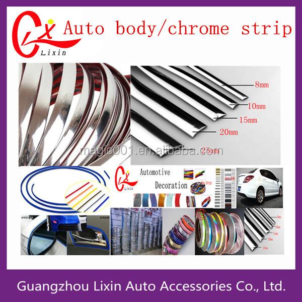 china car accessories different colors chrome edge trim car chrome strips chrome moulding strip. Black Bedroom Furniture Sets. Home Design Ideas