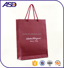 High quality brown Kraft paper bag with custom printing and logo, shopping/jewelry bags
