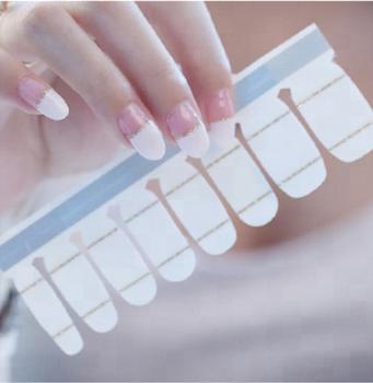 Wholesale Free Sample French Nail Art Stickers Nail Wraps 2019 ...