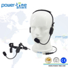 Waterproof two way radio headset with boom microphone and bone conduction speaker