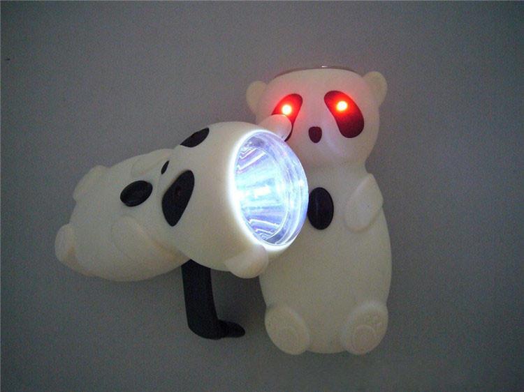 Halloween geschenk 0 5 watt panda förmige handkurbel taschenlampe