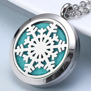 Fashion magnet Stainless Steel Aromatherapy Essential Oil Diffuser Car Perfume Pendant