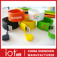 Silicon Wristband Slap Band Bracelet 2GB 4GB 8GB USB Flash Drive
