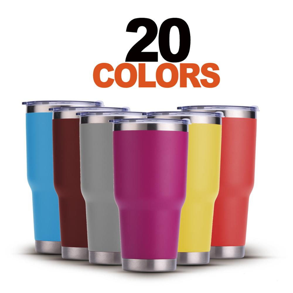 Wholesale Custom Decal Blank Camouflage Stainless Steel Tumbler 30oz Camo Glitter Powder Coated Vacuum Insulated Tumbler 30 oz