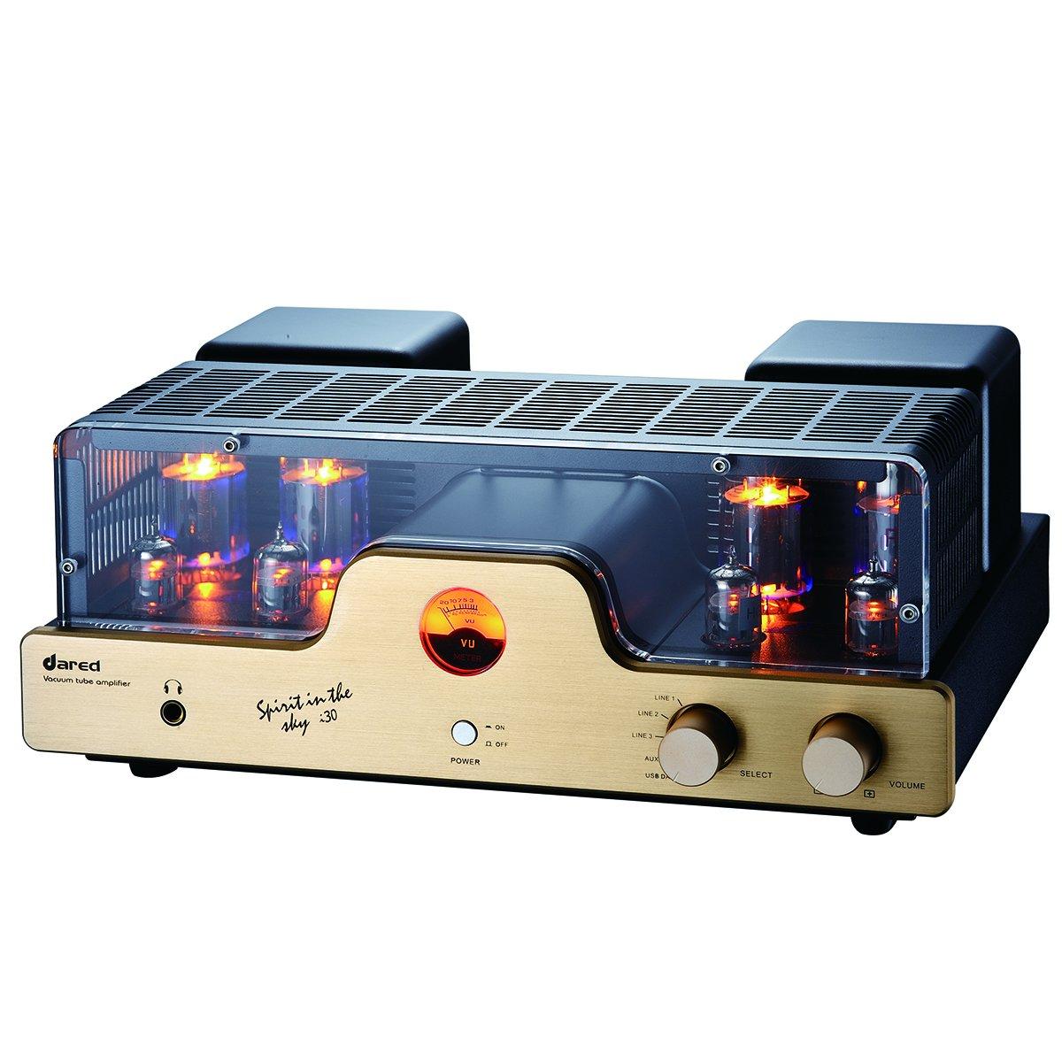 Dared I30 HIFI Audiophiles Professional Class A Vacuum Tube Integrated Amplifier USB-DAC/LINE input and Headphone Output,30W*2,with 6L6G(5881),12AX7(ECC83),12AU7(ECC82) Tube