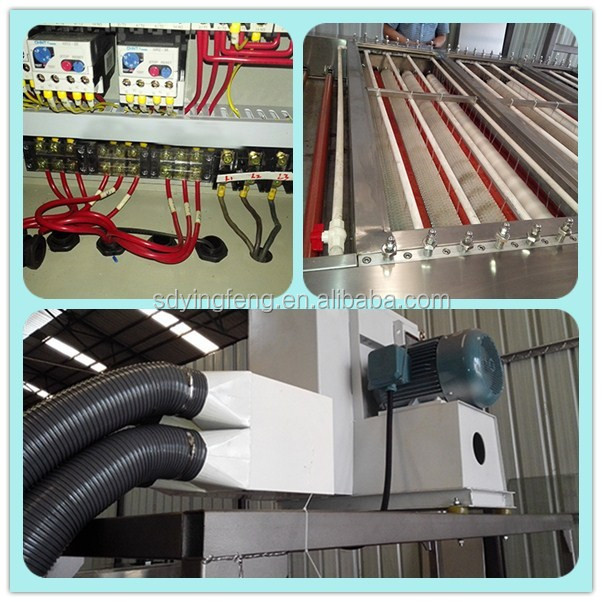 JFW1600 Horizontal glass washing and drying machinery with high quality