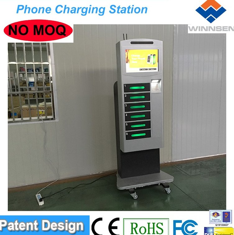Secure Public Phone Charging Kiosks Multi-function USB emergency mobile phone charger to charge all brands cell phones APC-06B