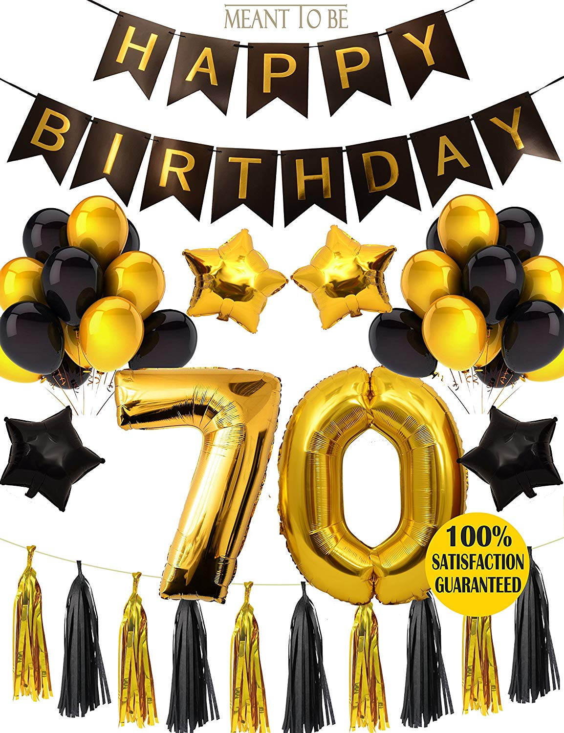 Happy 70th Birthday Party Decorations E/&L Cheers to 70 Years Banner 70th Wedding Anniversary Decorations