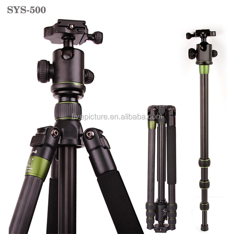SYS-500C Professional heavy duty Tripod For SLR Camera Portable Traveling Changeable Tripod Ball Head Monopod China