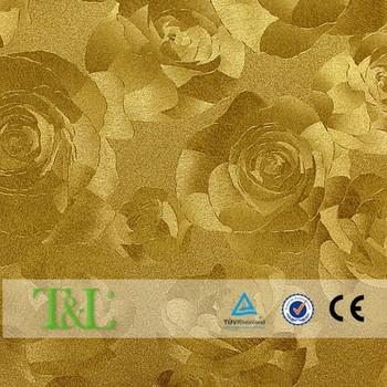 Luxury Design Golden Rose Flower Wallpaper