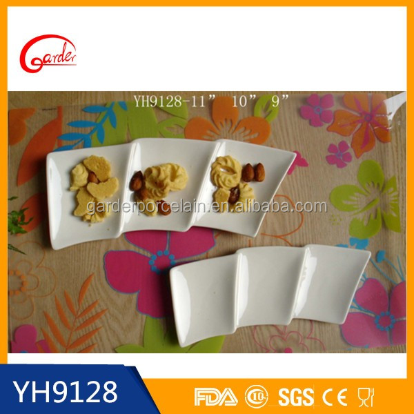 Wholesale white ceramic olive serving dishes
